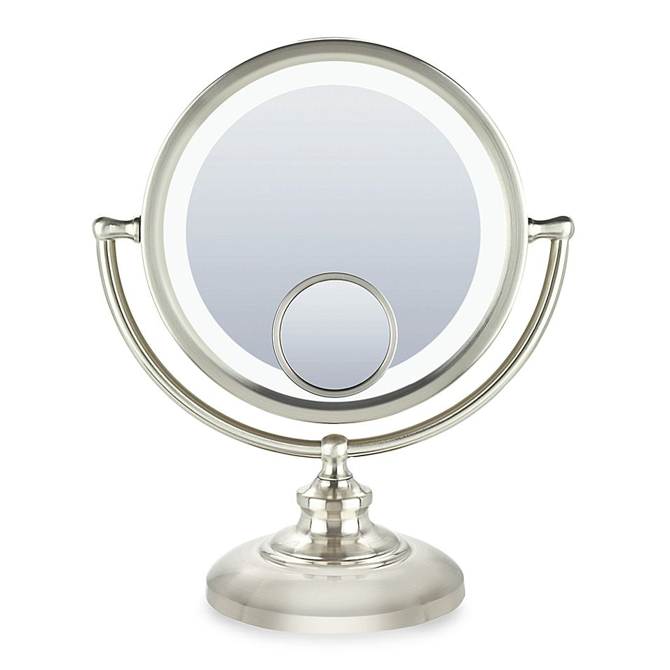 Conair Fluorescent 1x 10x 15x Fluorescent Mirror With Satin Nickel