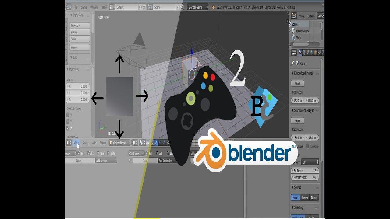 blender game engine tutorial part 2تعليم صنع الالعاب