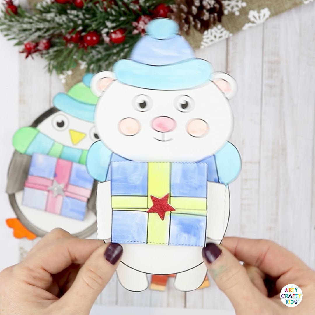 Photo of Winter Animal Printable Christmas Cards for Kids