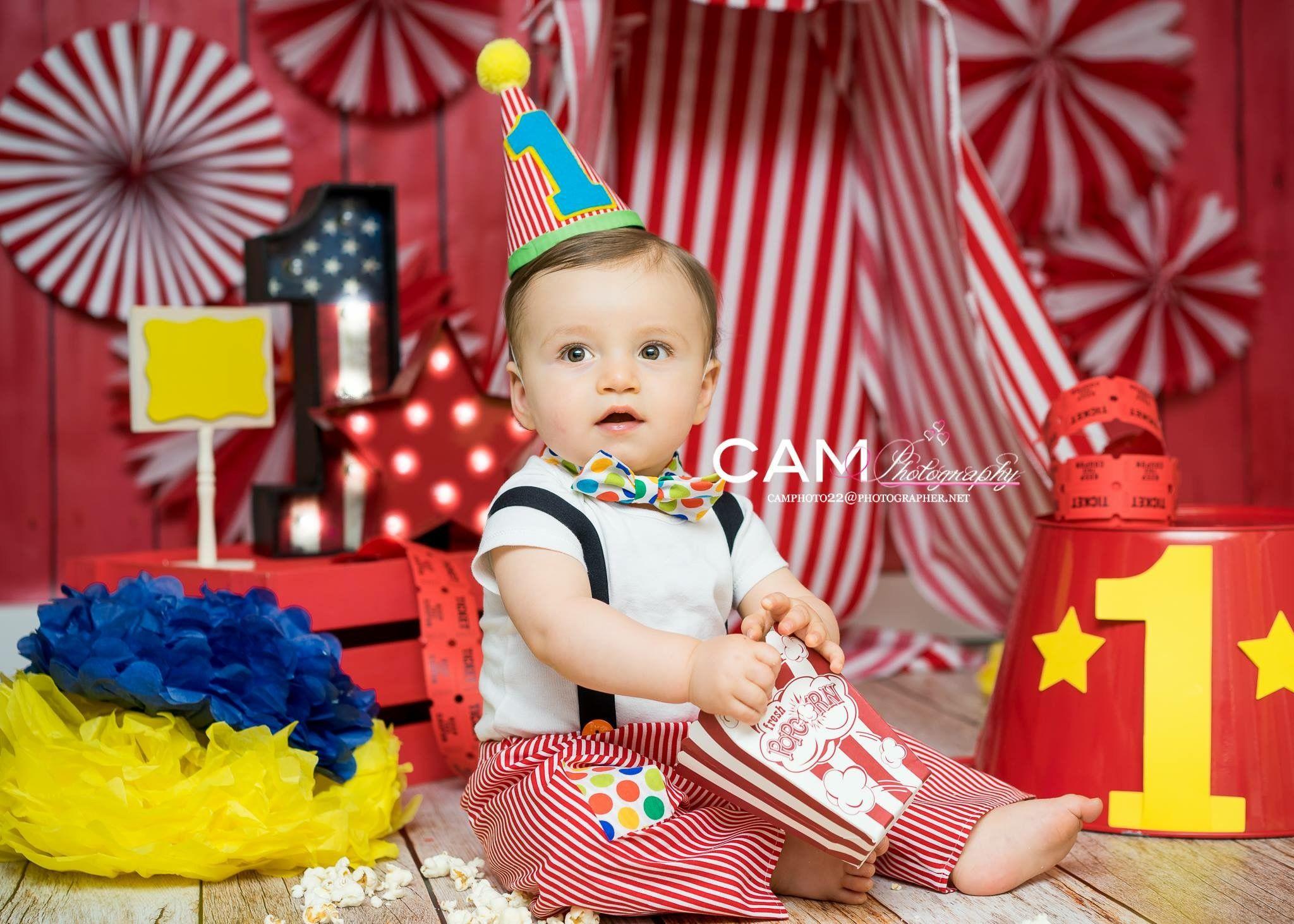 Cake Smash Boy Circus The Big Top First Birthday Theme Ideas Party Messy Red Fun Festa Infantil Circo Festa Patati Patata Aniversario Circo