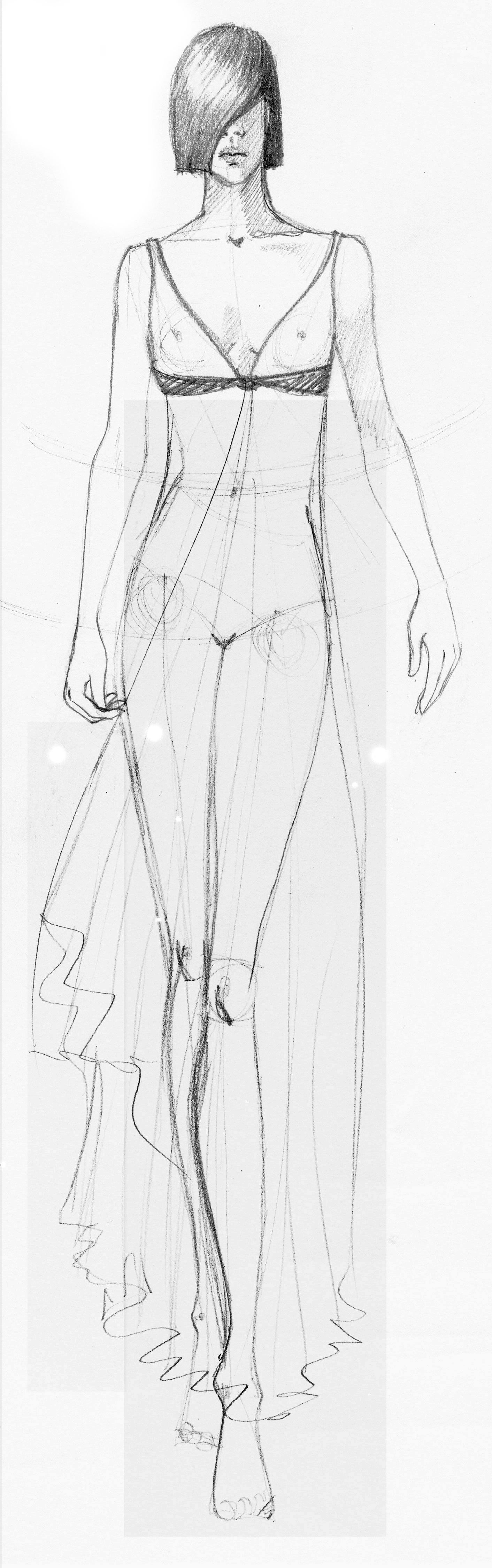 uma das imagens do novo livro de desenho de moda da Denise Voss