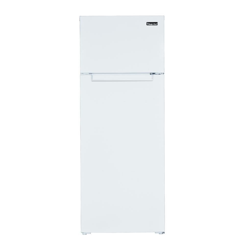 Magic Chef 7 4 Cu Ft 2 Door Mini Fridge In White Mcdr740we The Home Depot In 2020 Magic Chef Mini Fridge Top Freezer Refrigerator