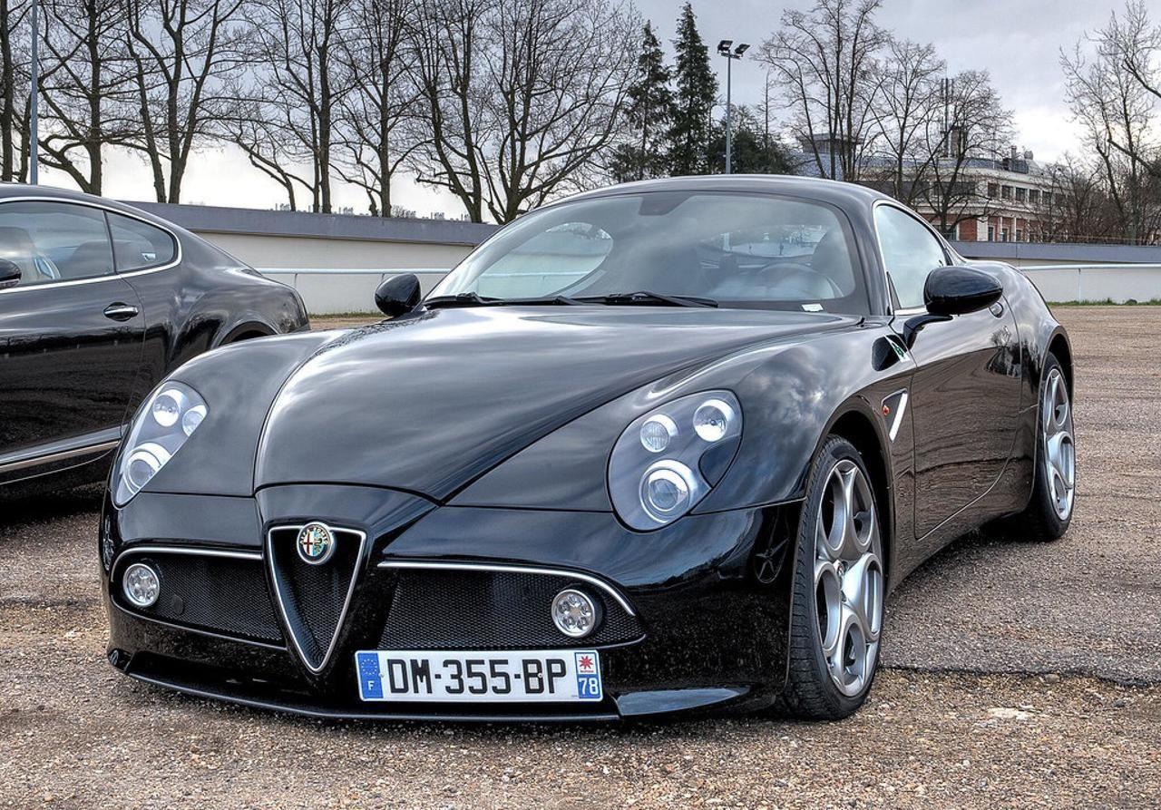 Black Alfa Romeo 8c Competizione Coches Chulos Coches