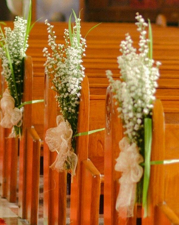 Wedding Aisle Decor Ideas Not A Pew But Easy To Wrap Around Chairs Keywords