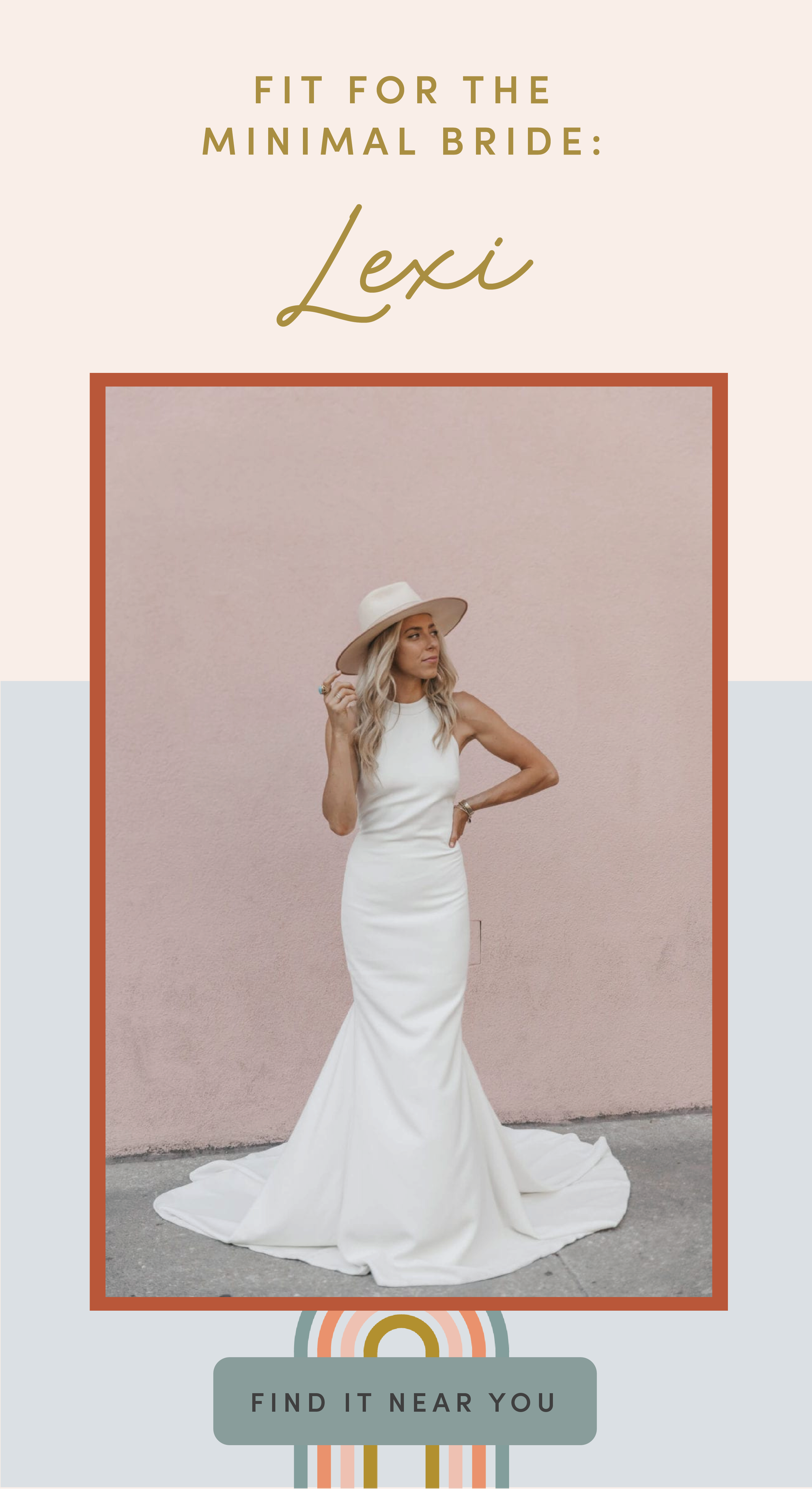 Introducing Lovely X Theia Exclusives Minimal Wedding Dress