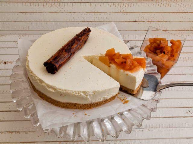Tarta de queso otoñal