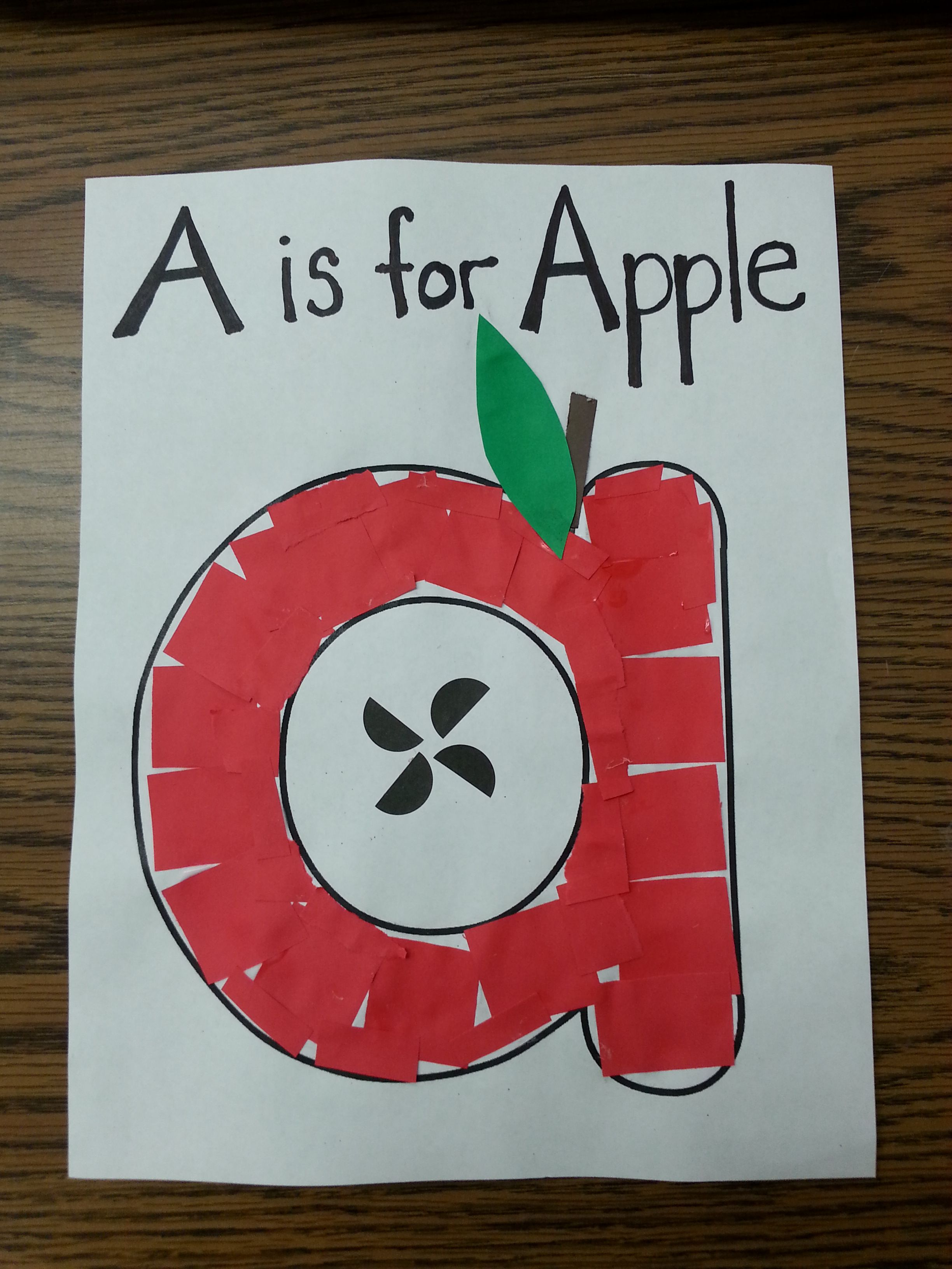 A Is Fo Apple Letter Craft