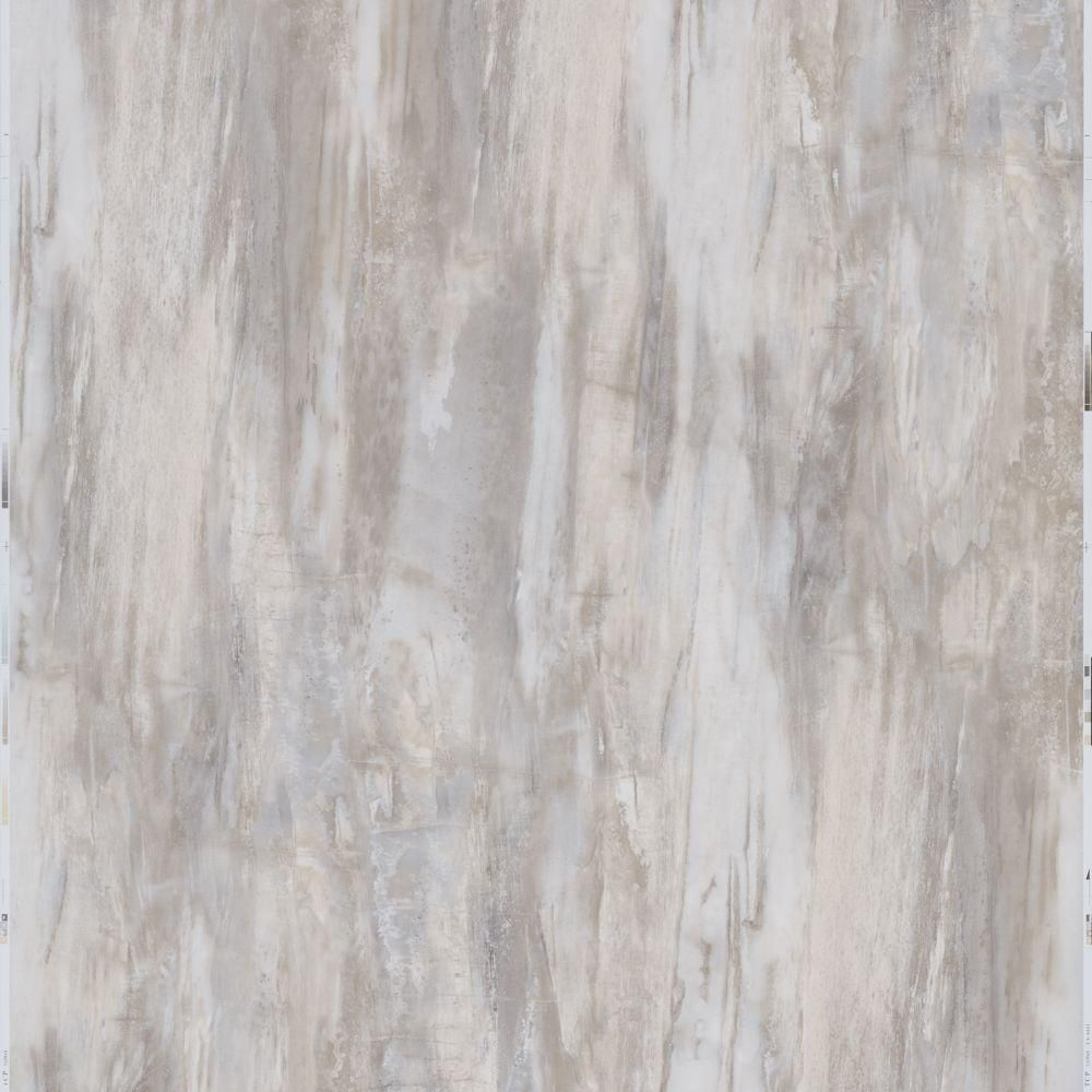 12 in. x 24 in. Peel and Stick White Petrified Wood Vinyl Tile (20 ...