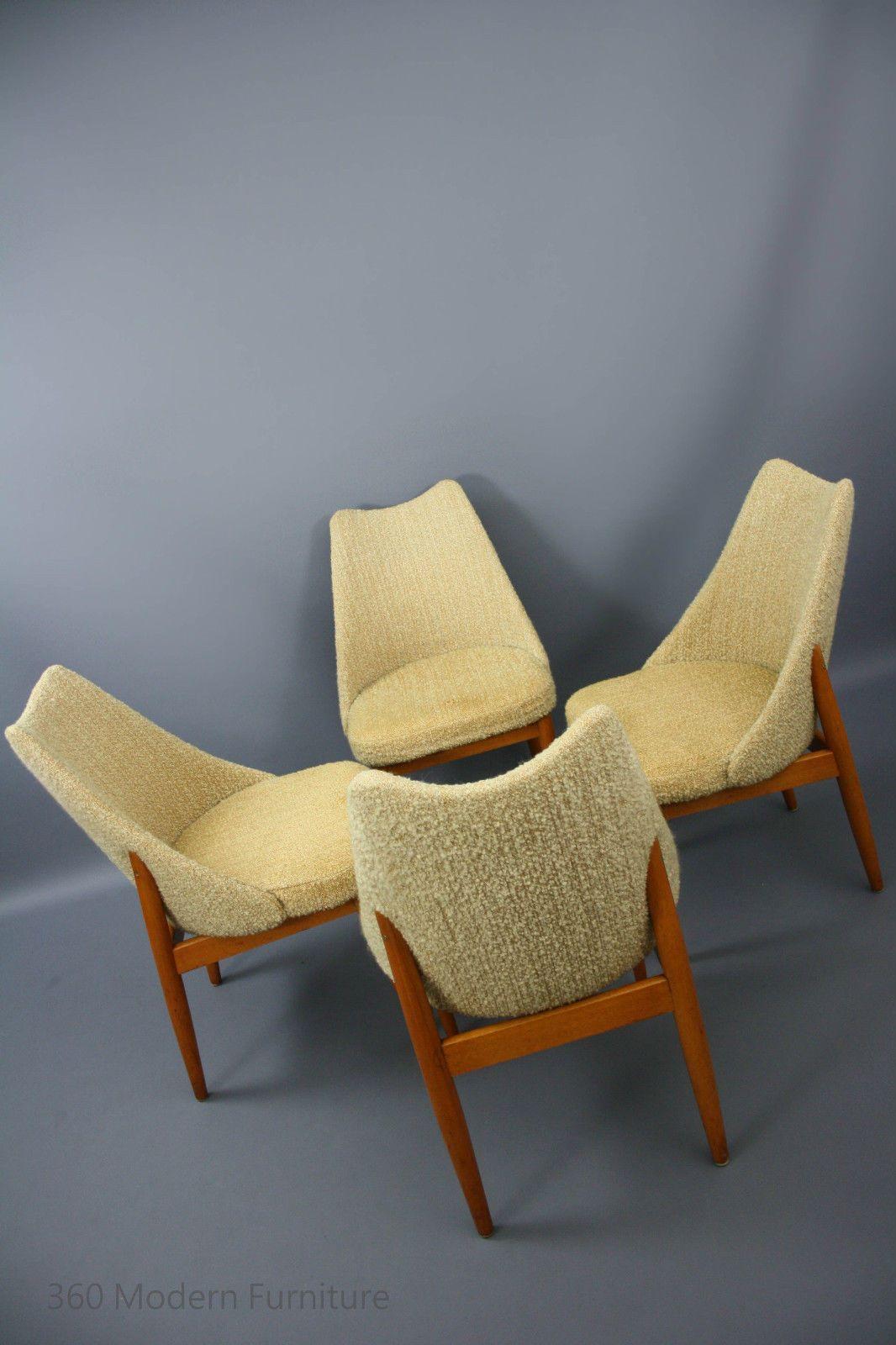 Mid century dining chairs set of 4 teak vintage retro danish parker featherston eames era in narre warren 360 modern furniture vic ebay