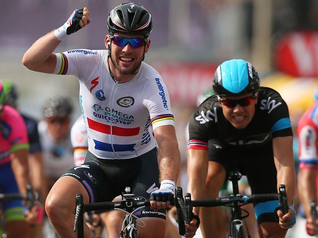 Boasson Hagen right in the mix behind Cavendish