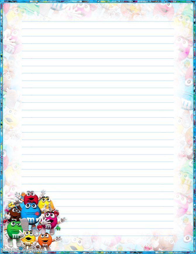 My printable stationary Creations 3 - Sophia Designs PenPal - free lined stationery