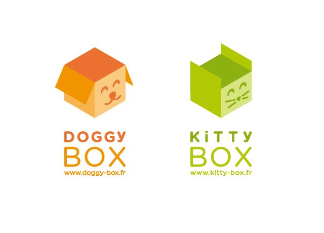 Doggybox et Kittybox   (Identité visuelle, logo, design graphique)