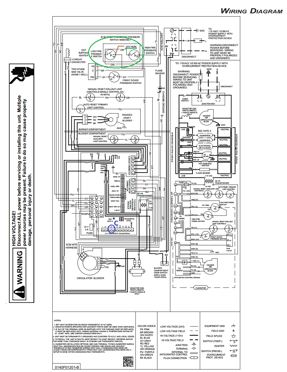 Goodman Furnace Wiring Diagram AEPF Thermostat Control