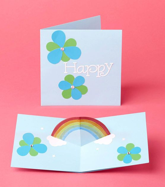 How To Make A Rainbow Popup Card Arts And Crafts Projects Rainbow Card Cards