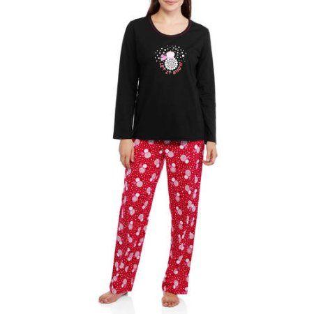 Secret Treasures Women s Holiday Knit Pajama Top and Pants 2 Piece  Sleepwear Set (Sizes S-3X) b392391bc