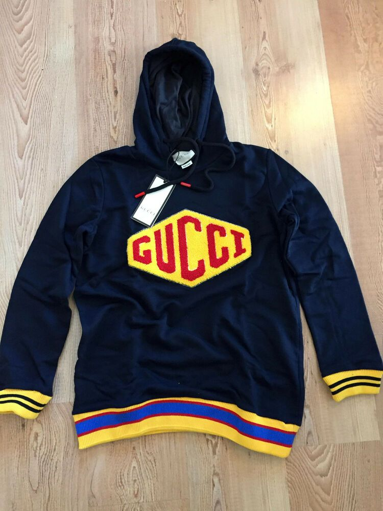 5c58e445c83 New Gucci Women s Navy Blue Cotton Hooded Sweatshirt Size Medium  fashion   clothing  shoes  accessories  womensclothing  tops (ebay link)