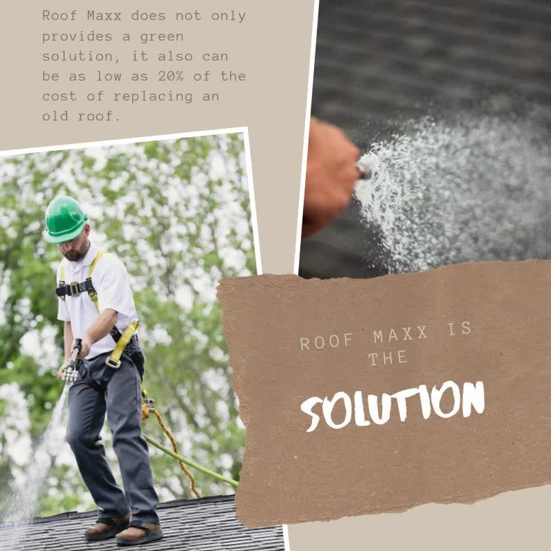 Roof Maxx Is The Solution To Your Roofing Needs Video In 2020 Roof Cleaning Roof Restoration Green Solutions