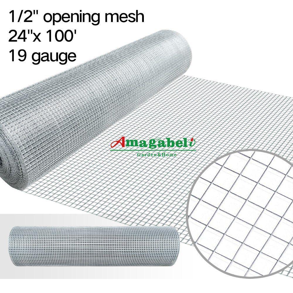 1 2 inch Galvanized Hardware Cloth 24 x 100 Gopher Wire Welded Mesh ...
