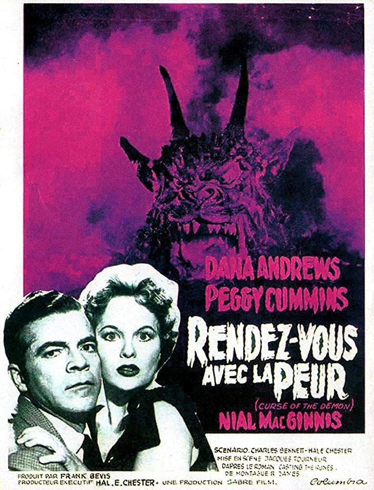 Night of the Demon Dana Andrews 1957 Horror movie poster print