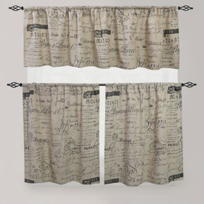 Park B. Smith Script Café Window Curtain Tier Pair   BedBathandBeyond.com
