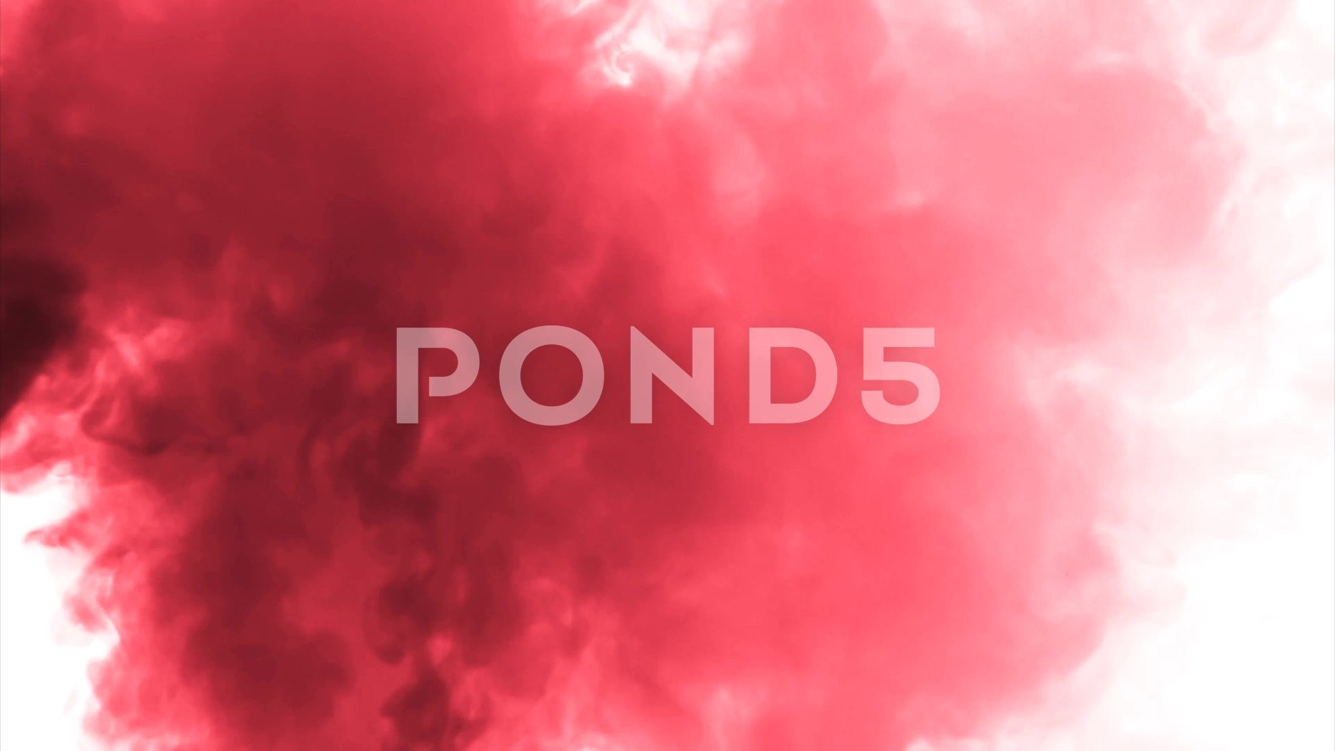 Red Cloud Smoke Ink On Water On White Background Stock Footage