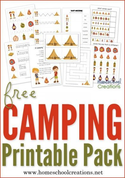 Camping Preschool Pack ~ Free Preschool Printables! | Kind