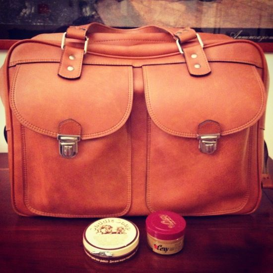 f9afe23e83 DIY  How to clean an old and dirty leather bag like a pro