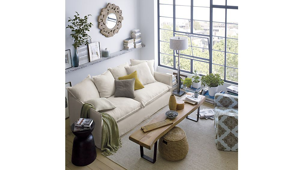 Yukon Coffee Table Bench Crate And Barrel Living Room