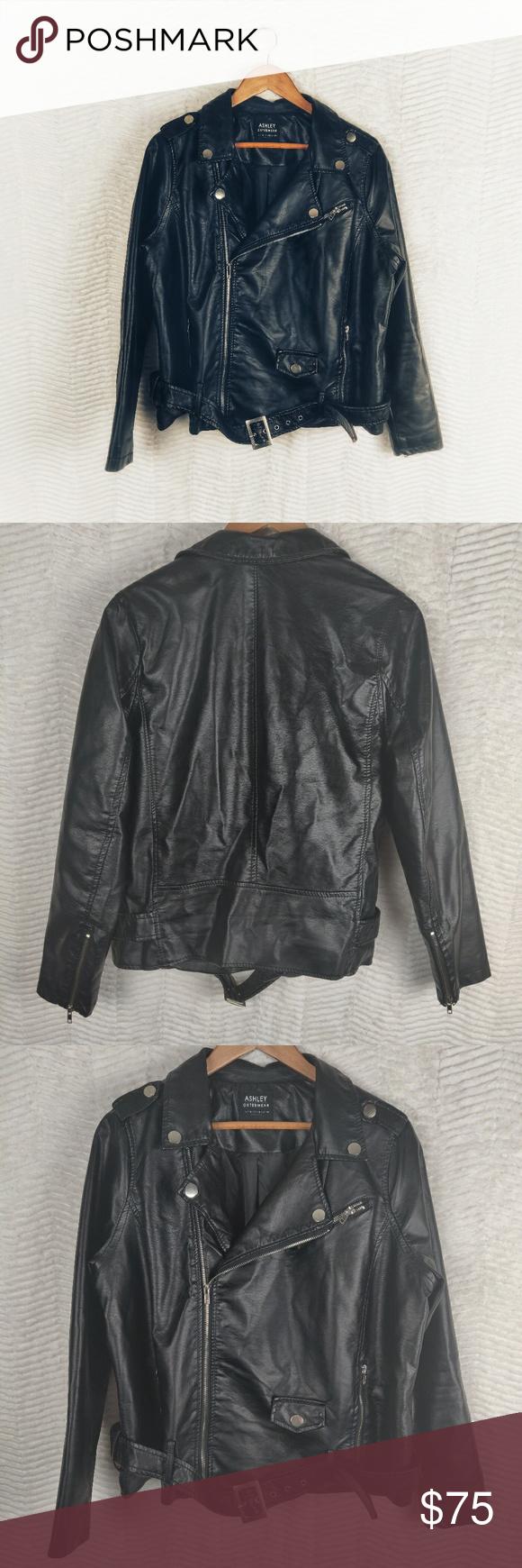 Ashley Outerwear Cropped Vegan Moto Jacket Sz 1x Long Sleeve Tee Dress Backless Bodycon Dresses Fashion [ 1740 x 580 Pixel ]