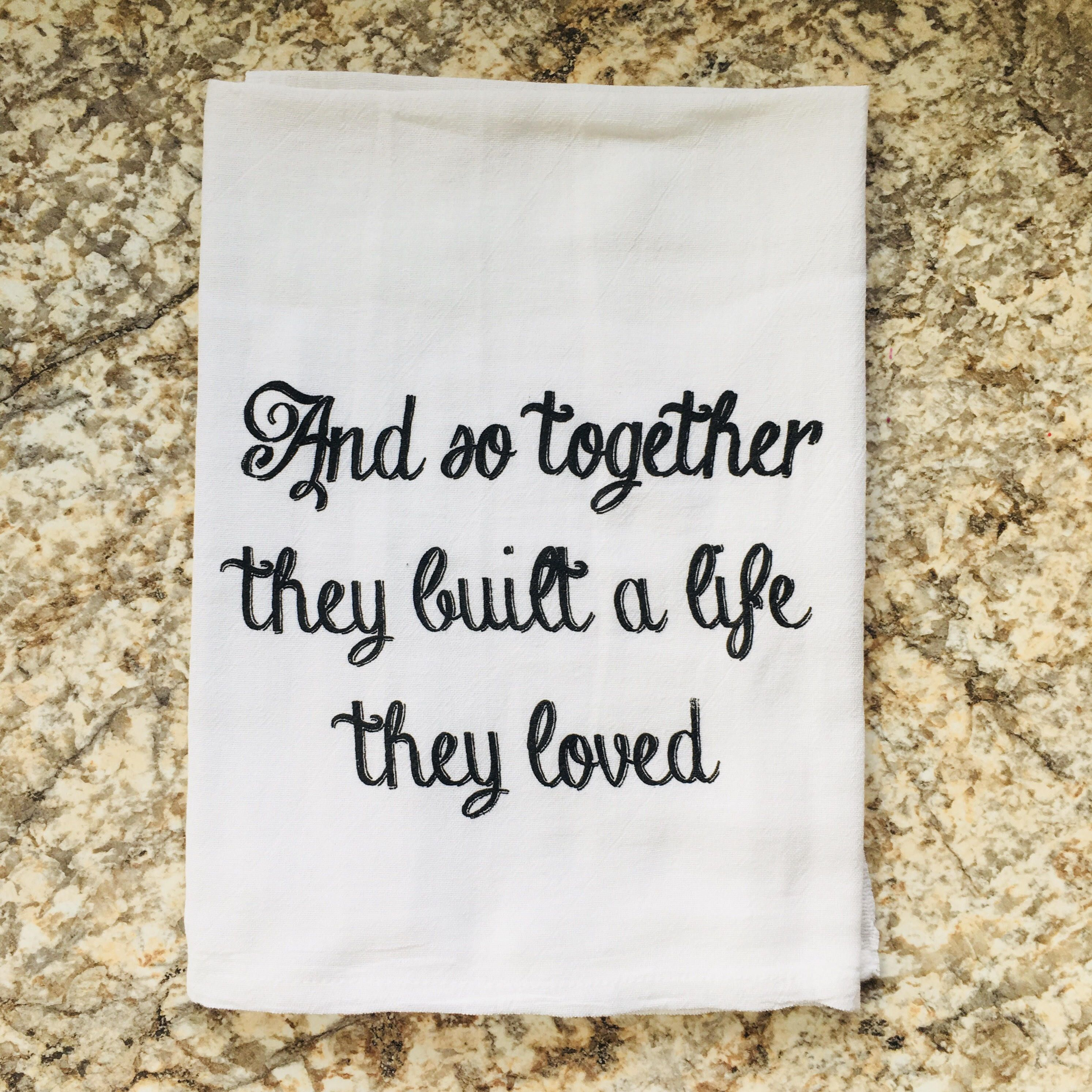 Wholesale Tea Towel And So Together They Built A Life Dish