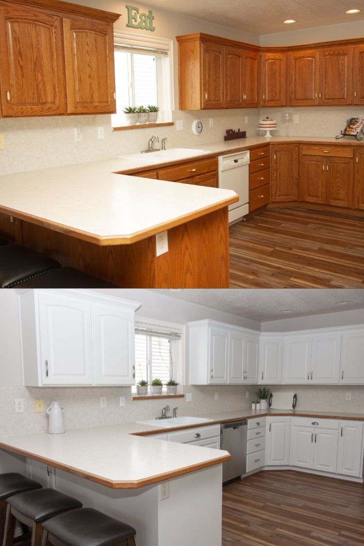 Cabinet Painting Makeover N Hance Of Chicago In 2020 Kitchen Cabinet Colors Refinishing Cabinets Kitchen Remodel