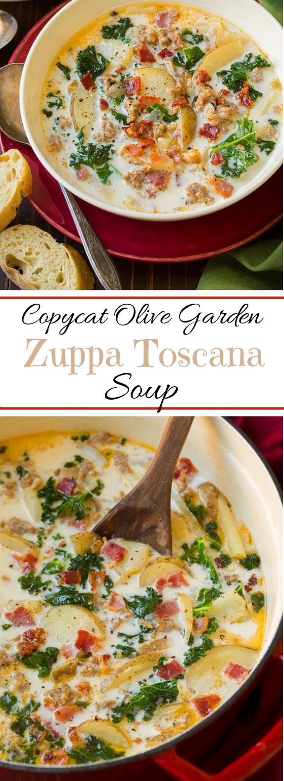 Zuppa Toscana Soup (Olive Garden Copycat) #winterrecipe #soup #zuppatoscanasoup