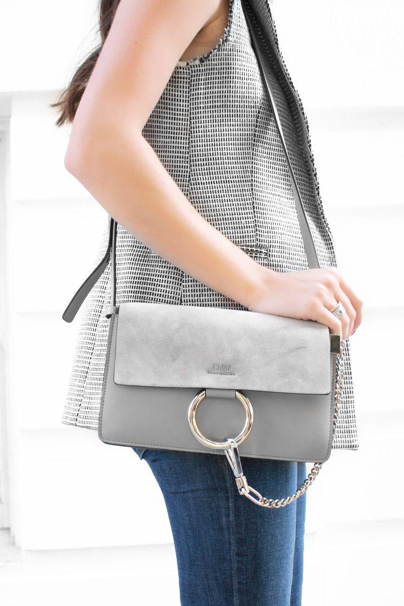 chloe faye shoulder bag in grey details pinterest shoulder bags shoulder and gray. Black Bedroom Furniture Sets. Home Design Ideas