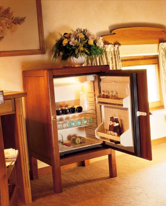 Hidden mini fridge Kitchen Pinterest