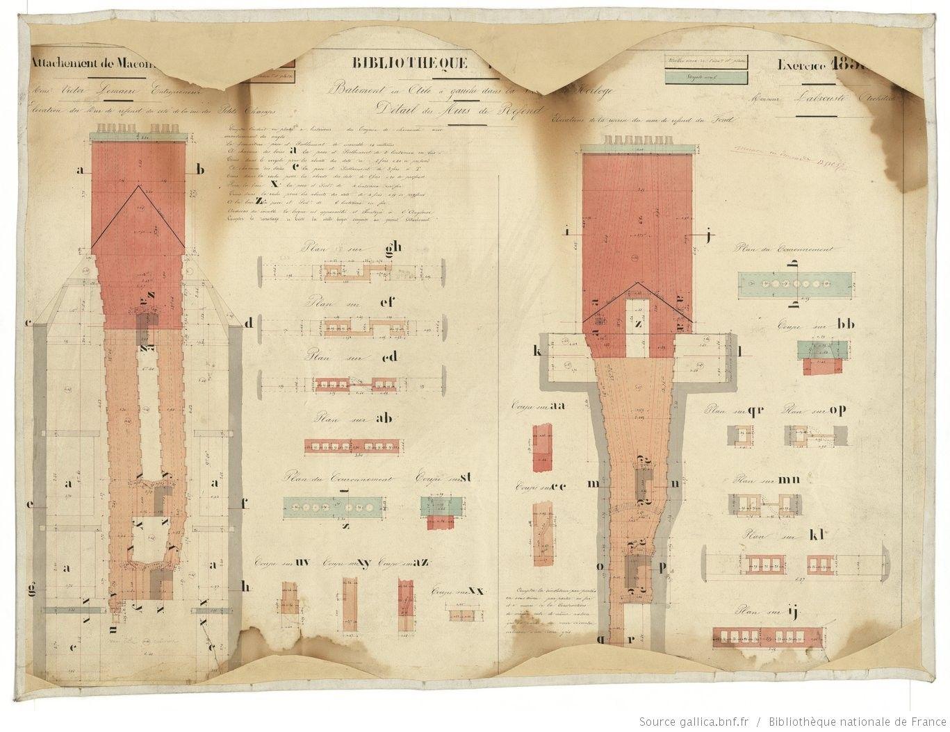 [Bibliothèque impériale, hôtel Tubeuf (attachement de maçonnerie, 1858 ?)]. 5…