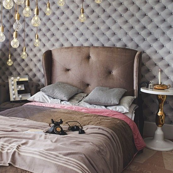 hotel style bedroom furniture. Grey Velvet Hotel-style Bedroom | Decorating Ideas Housetohome.co.uk Hotel Style Furniture