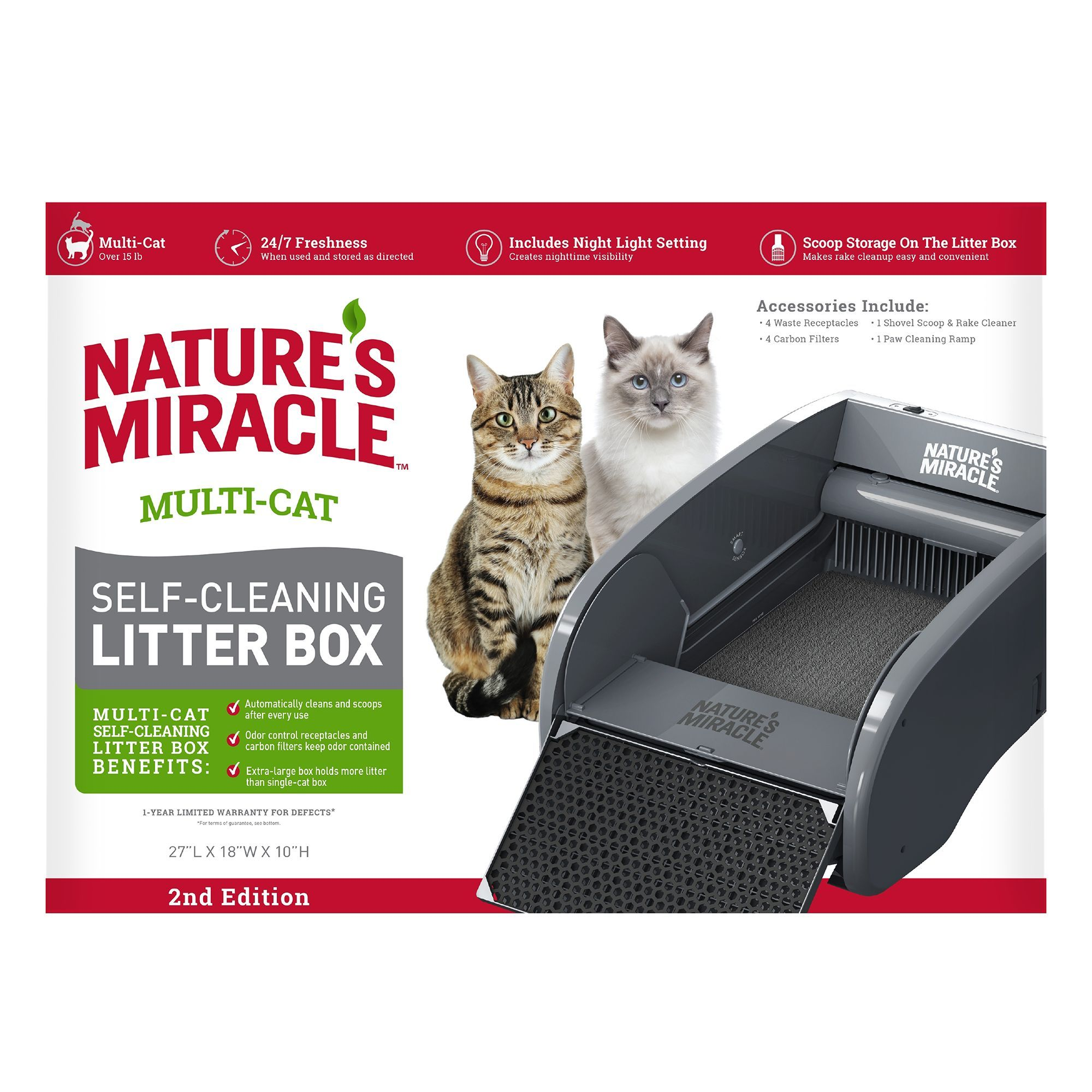 Nature's Miracle® MultiCat SelfCleaning Litter Box