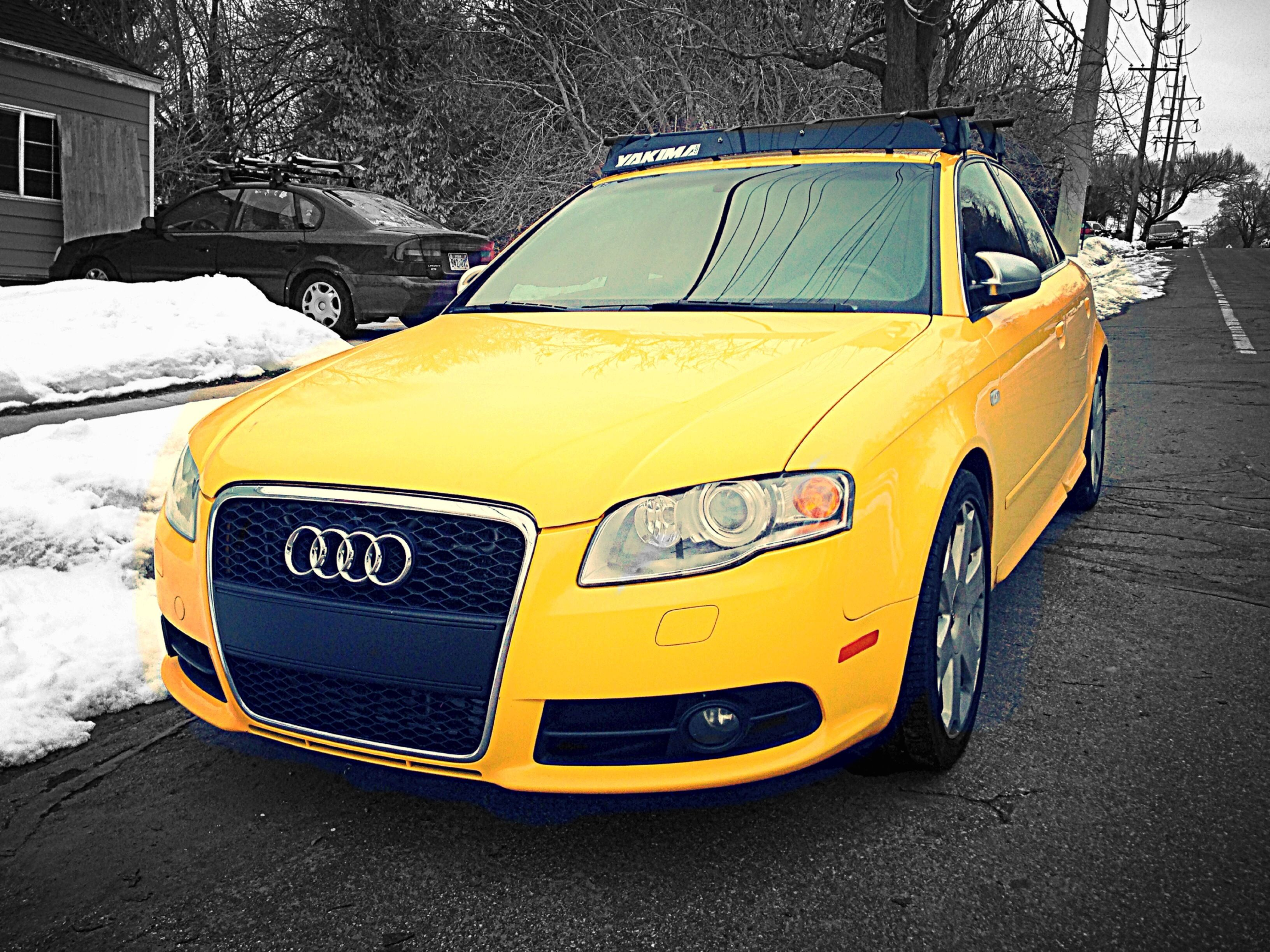 My New B7 2006 Audi S4 W Rs4 Grill And Yakima Board Rack Audi S4 Audi Volkswagen