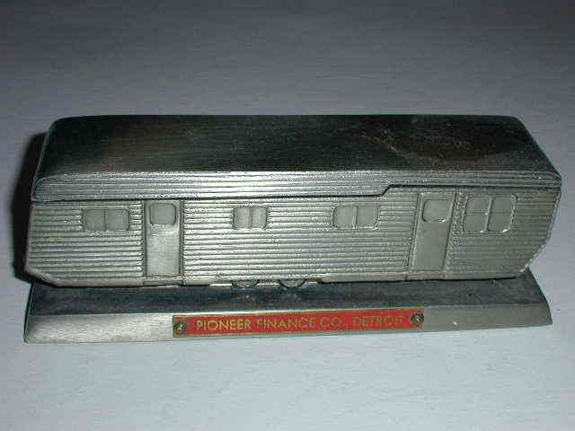 VERY RARE HOUSE TRAILER PROMO THAT HOLDS CIGARETTES AND MATCHES - MINT ORIG COND