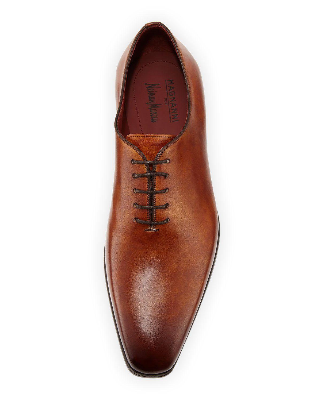 cc8d4f8c33f Magnanni For Neiman Marcus Men s One-Piece Leather Lace-Up Dress Shoe