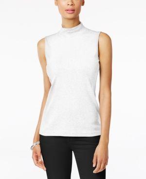 Karen Scott Cotton Tank Top Bright White XL