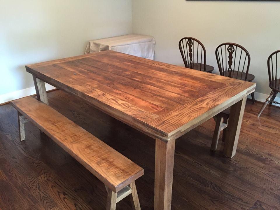 Custom Ash Wood Farm Dining Table Furniture By Brad Nashville - Nashville dining table