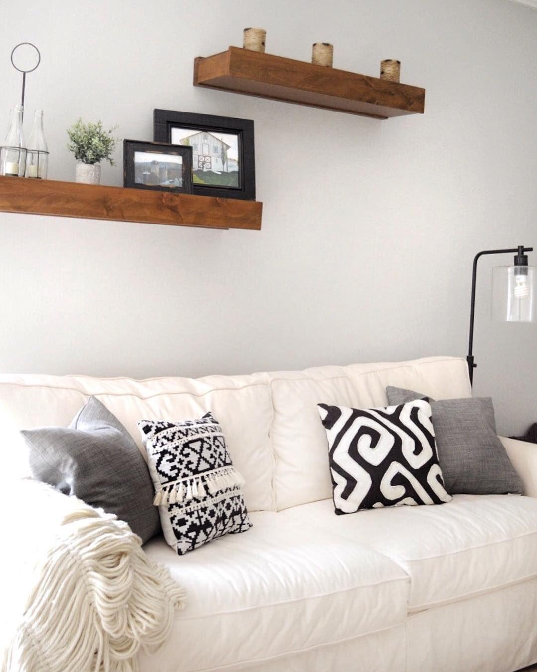 Black and white modern farmhouse style throw pillows