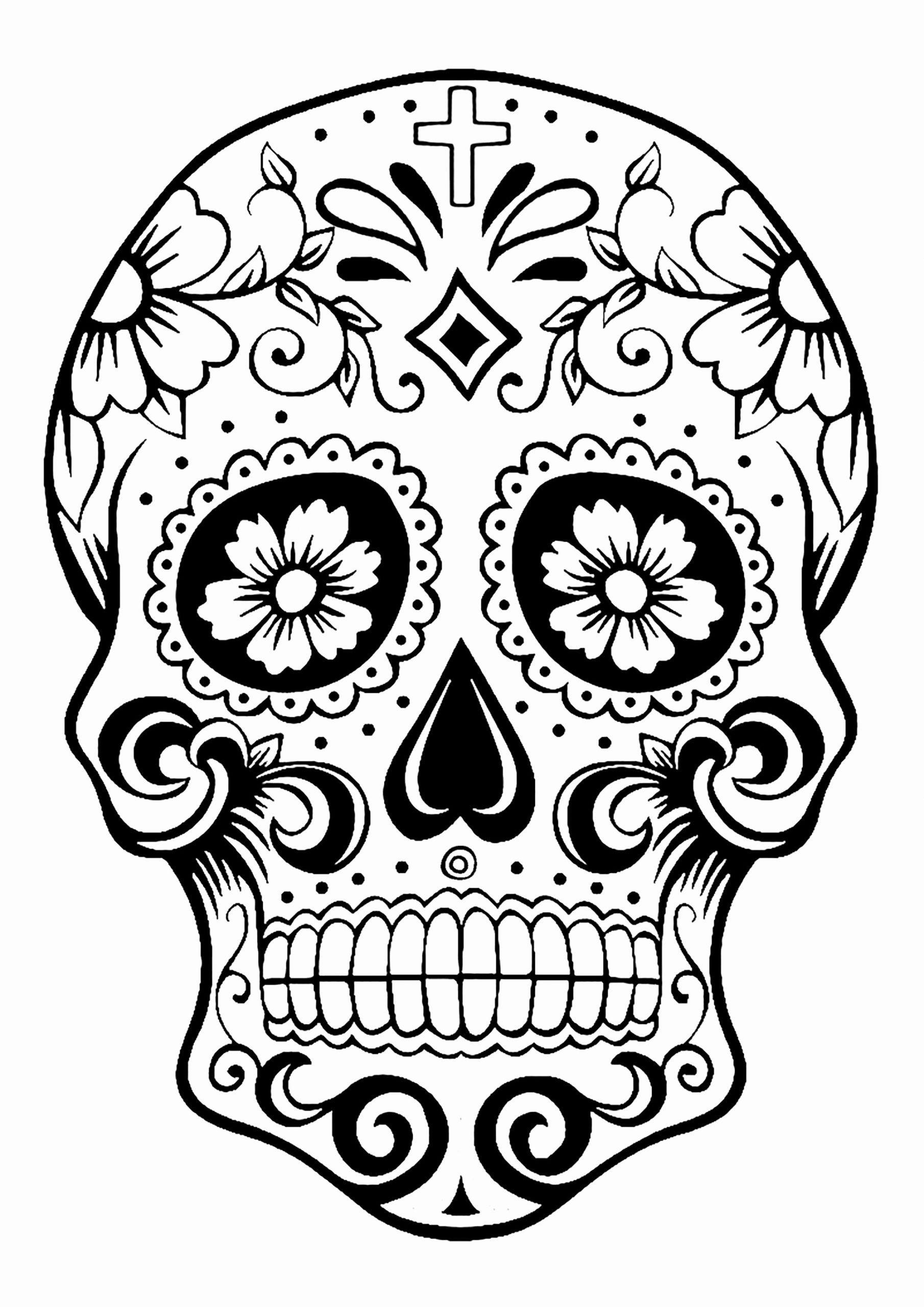 21 Dia De Los Muertos Coloring Book In 2020 (With Images) Skull