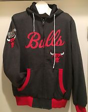 Chicago BULLS Action Reversible Hoodie - Embroidery & Screenprinted logos - NBA