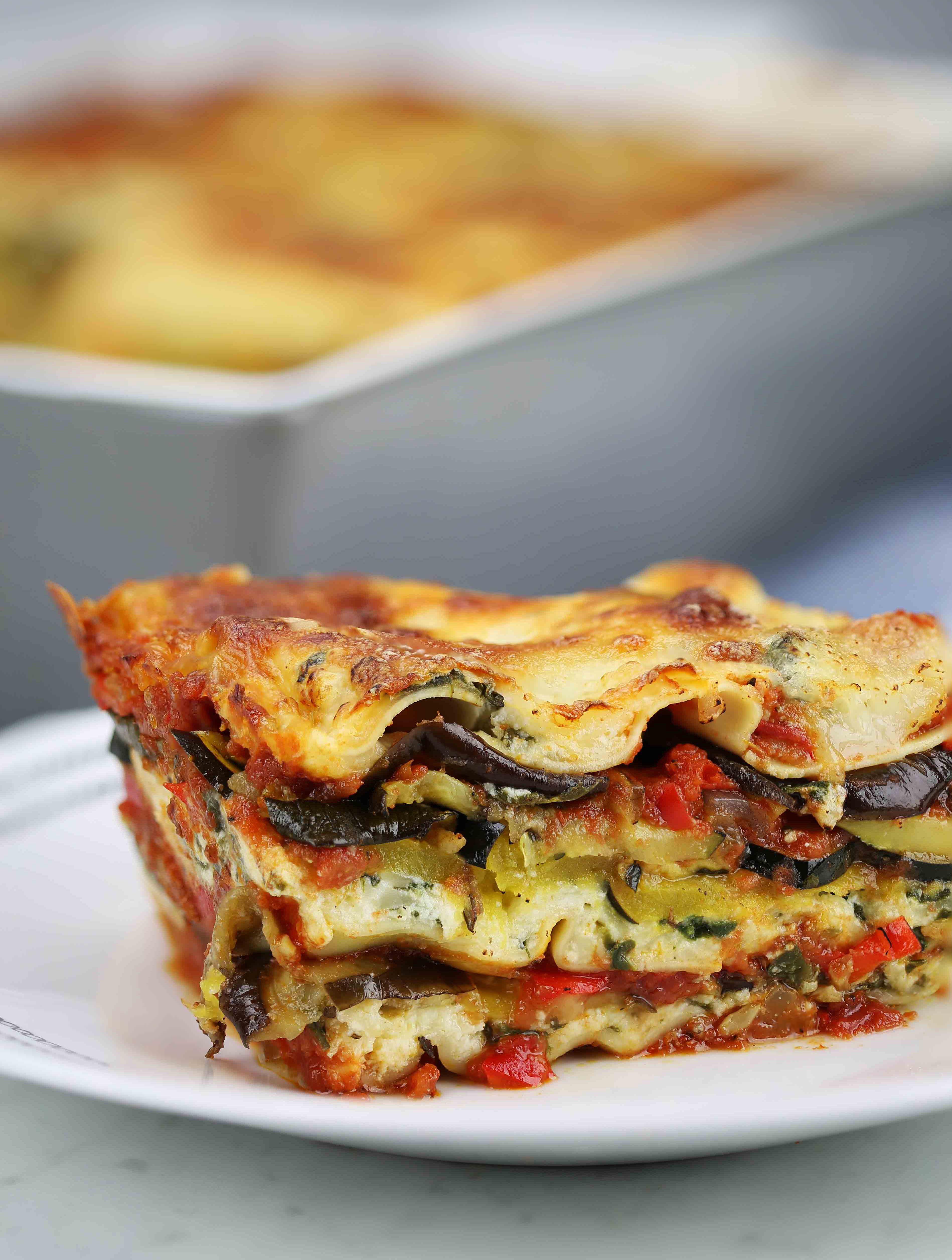 Roasted Vegetable Lasagna  Meatless Comfort Foods