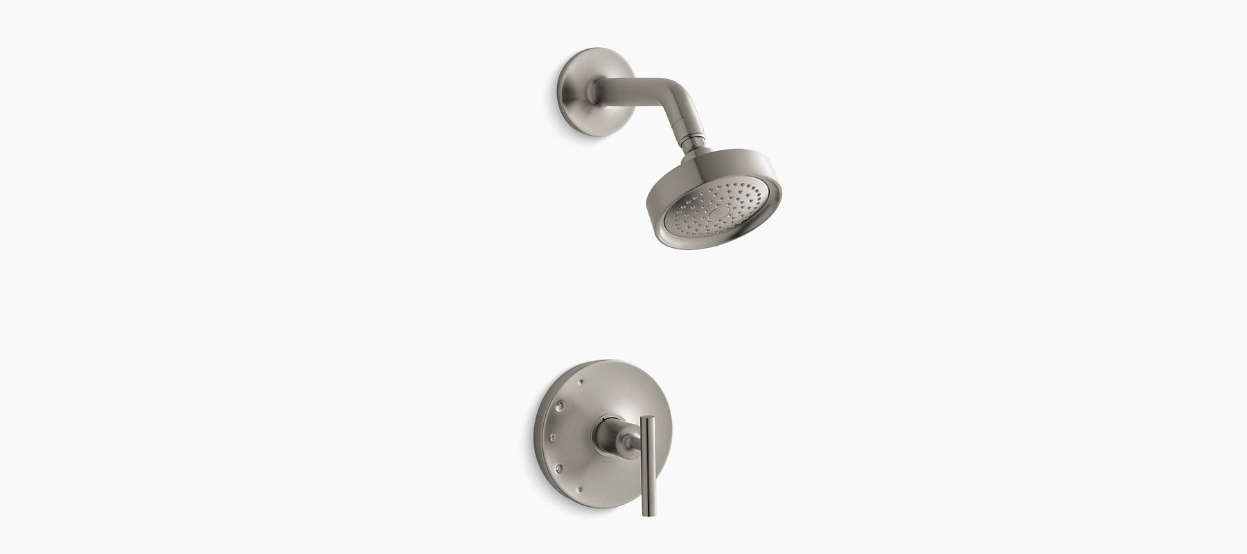 Purist® Rite-Temp® pressure-balancing shower faucet trim with lever handle, valve not included