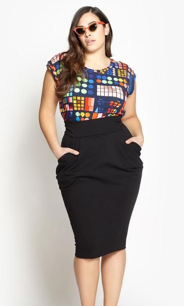 Lola Ruched Pencil Skirt