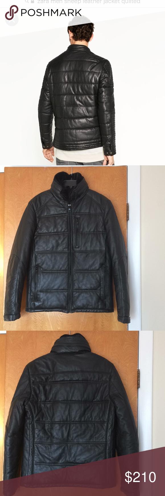 Zara sheepskin leather jacket. Sz. M (With images