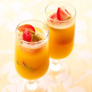 Take your pick of champagne cocktails with these pineapple or cranberry variations.